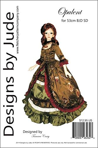 Amazon Com Opulent Gown Printed Sewing Pattern For 1 3 Aod Bjd Sd Dolls Angel Of Dreams Arts Crafts Sewing