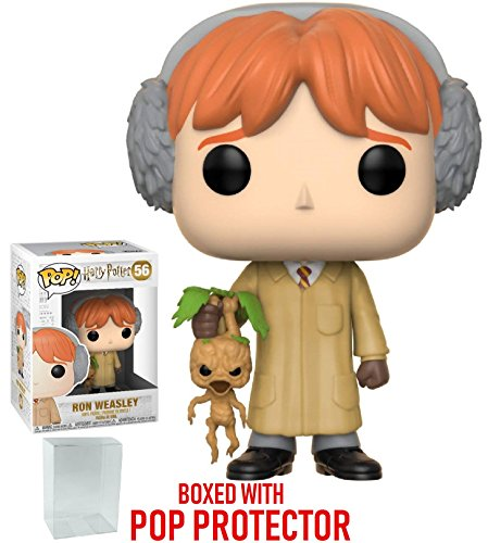 Funko Pop! Movies: Harry Potter - Ron Weasley (Herbology) Vinyl Figure (Bundled with Pop Box Protector Case)