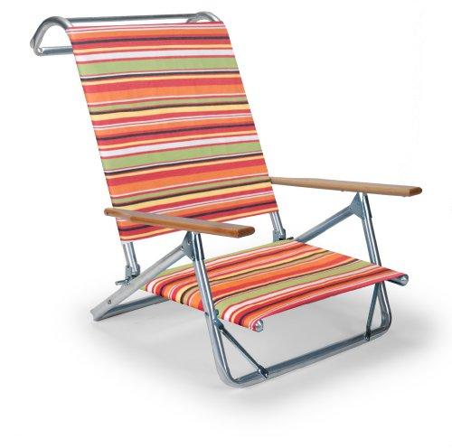 - Telescope Casual The Original Mini-Sun Chaise Folding Beach Arm Chair, Cantina