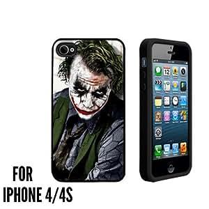 Serious Joker Custom made Case/Cover/skin FOR Apple iPhone 4/4S - Black - Rubber Case ( Ship From CA)