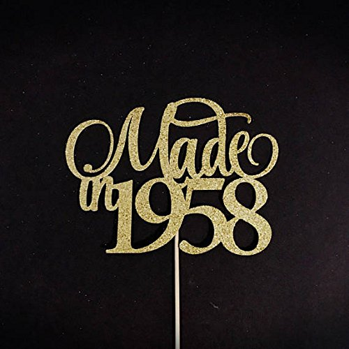 Made In 1958 Cake Topper Birthday Birth Year 60th