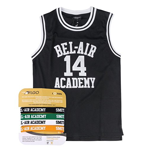 AFLGO The Fresh Prince Of Bel Air Academy Jersey Will Smith Include Set Wristbands S-XXL