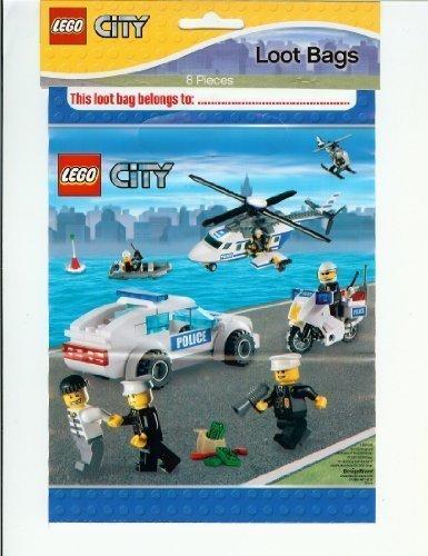 Lote de 8 bolsas para fiesta con diseño de Lego City: Amazon ...