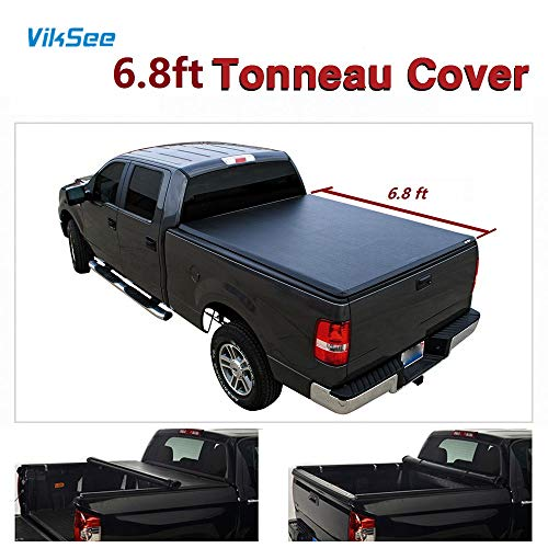 "6.8ft (81.8"") Roll up Tonneau Cover for 99-16 Ford F250/F350 Super Duty Pickup 1pc Black Vinyl Bed Assembly"