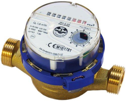 METRIC, British Thread Water Meter Flow, Cold Water 3/4inch (1inch) BSP Meters 4,0 m3/h Powogaz