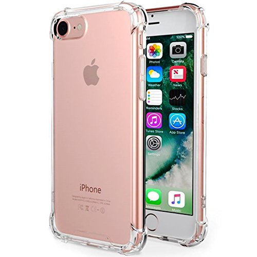 CaseHQ iPhone 6 Plus Case, iPhone 6s Plus Case,Crystal Clear Shock Absorption Bumper Slim Fit,Heavy Duty Protection TPU Cover Case for Apple iPhone 6 Plus/iPhone 6s Plus -Clear