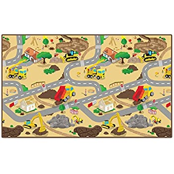 Amazon Com Melissa Amp Doug Jumbo Roadway Activity Rug 4