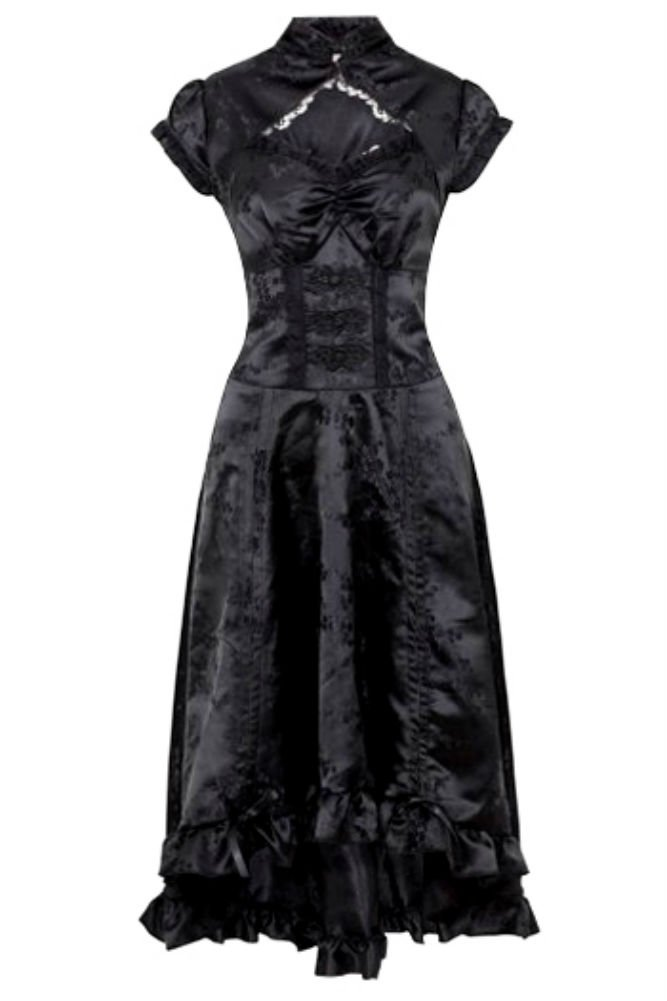 Jawbreaker Gothic Victorian Steampunk Retro Madame of The House Dress 5