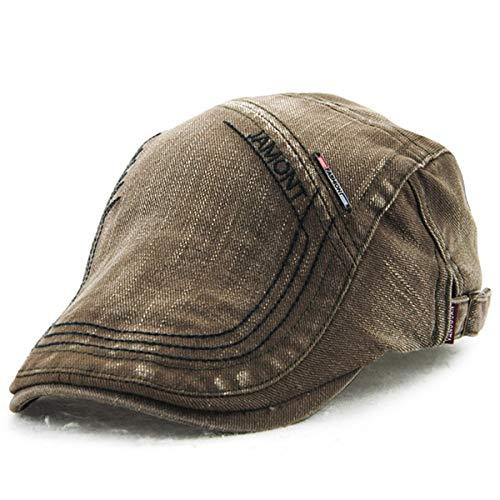 Mediana para británico Bordado qin Sombrero Casual Sombrero hat Edad de Vintage Hombres Bailey GLLH Sombrero Sombrero Pato A D Sombreros de nC7axwwq1