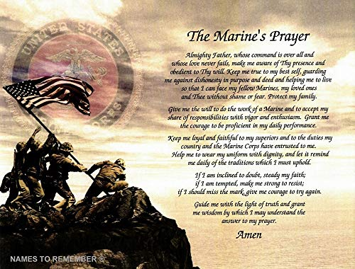 Marine Gift Prayer Birthday Father#039s Day Husband Son Wife Daughter Mother for Marine