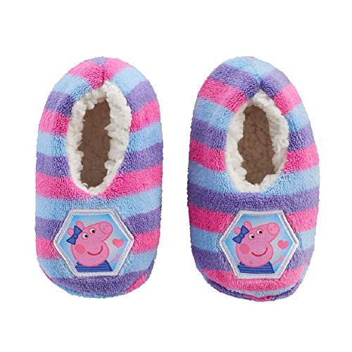 Peppa Pig Slippers - Peppa Pig Slipper Sock For Girls Faux Fur Babba Toddler Size Fits Age 3T- 4T (Fits Toddler Ages 2T-3T)
