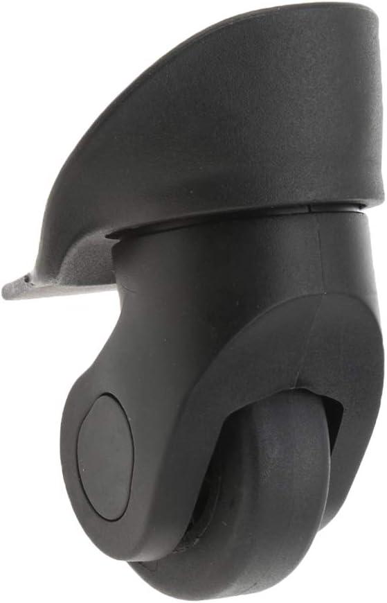 F Fityle 4 Pi/èces A20 Valise Bagages Roues Muettes roulettes De Remplacement pour Noir Installation Facile
