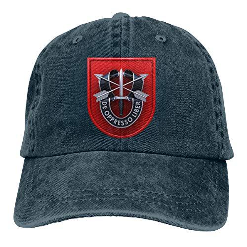 Chengduyacap 7th Special Forces Group Dad Hat Denim Baseball Cap Adjustable Polo Trucker Unisex Style Headwear