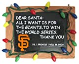 San Francisco Giants Official MLB 3 inch x 4 inch Chalkboard Sign Christmas Ornament