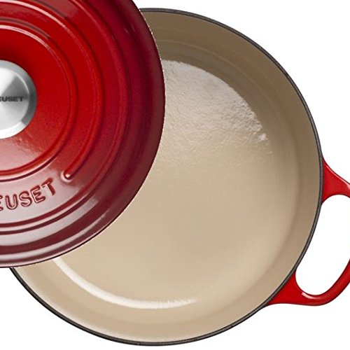 Le Creuset Signature Enameled Cast-Iron 13-1/4-Quart Round French (Dutch) Oven, Cerise (Cherry Red) w/ Stainless Knob