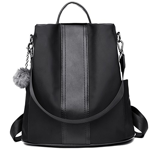 Backpacks Women Purse Bags Daypack Nylon Backpack Lightweight for Casual Rucksack Black Shoulder E50wvqw
