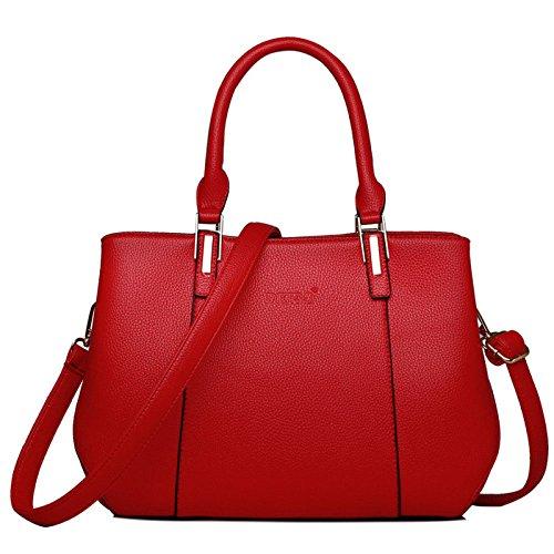 Main New Bandoulière Capacité Sac Messenger à KYOKIM Bag Casual Des Cuir Fashion Grande Vintage à Femmes En C Sac TqEgxXwx