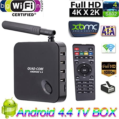 wemore (TM) Rockchip 3128 Quad-Core F6 Android 4.4 TV Box 1.3 GHz 1 G/8 G H.265 XBMC DLNA Wi-Fi 3d mejor que MXQ CS918 MX Q7 M8 Smart TV Box: Amazon.es: Instrumentos