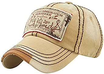 MINAKOLIFE Mens Vintage Distressed Denim Cotton Baseball Cap Trucker ... f9ea0826ac90