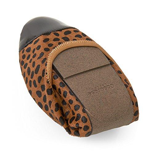 Cuero Harrow Poni Mujer Leopardo Plegables Ballerinas Zapatos Cocorose Cabello qAPgwtg