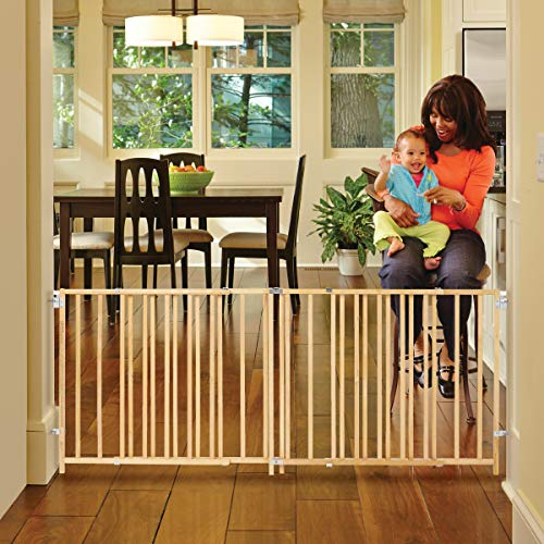 'Extra-Wide Swing Gate' by North States Fits openings 60' to 103' wide (27' tall, Natural wood)