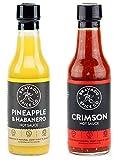 Bravado Spice Co. Hot Sauce 5 oz Bottles Gift Set (PINEAPPLE + CRIMSON)