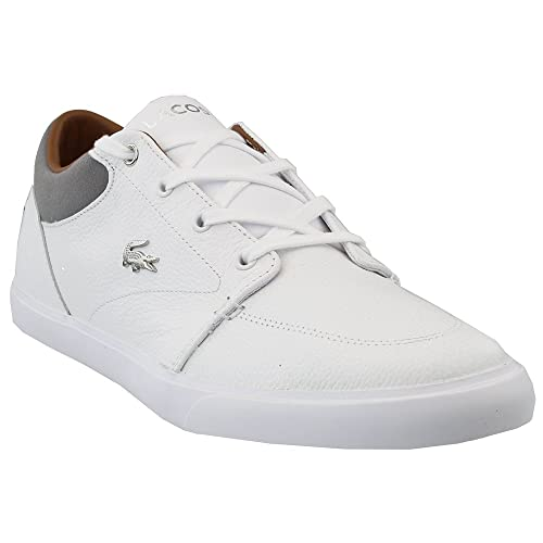 7538eb82d Lacoste Men s Bayliss-118 Sneakers Shoes White Grey 8.5 D(M) US  Buy ...