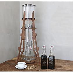 [KEM]Dutch Q Cold Brew Coffee Iced Coffee Maker Wooden Eiffel Tower Home Hand Drip Dutch Machine Golden OAK Color & PDF English File on How to assenble