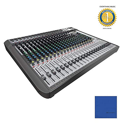 Soundcraft Signature 22 MTK 22-Input Multi-Track Mixer with Microfiber and 1 Year Everything Music Extended Warranty