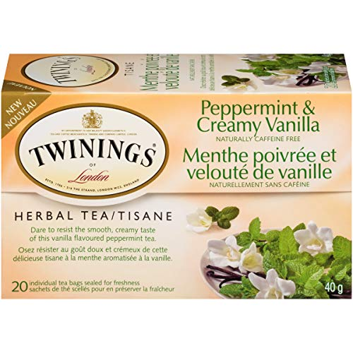 (Twinings Tea Herbal Peppermint and Creamy Vanilla 20 Individual Tea Bags/Net Wt. 1.41oz. )