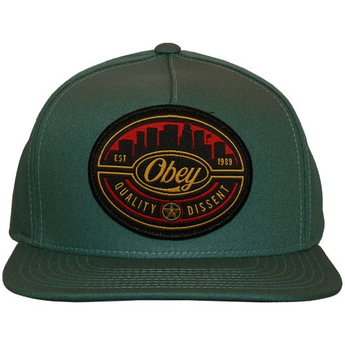 Obey - Casquette Snapback Homme Skyline - Grey / Blue