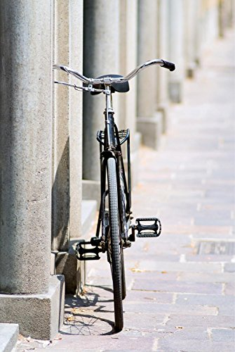 Old Bicicle Wall Decal - 30 Inches H x 20 Inches W - Peel and Stick Removable Graphic