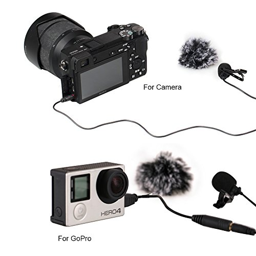 Comica CVM-V01GP Lavalier Lapel Microphone Clip-on Omni-dire