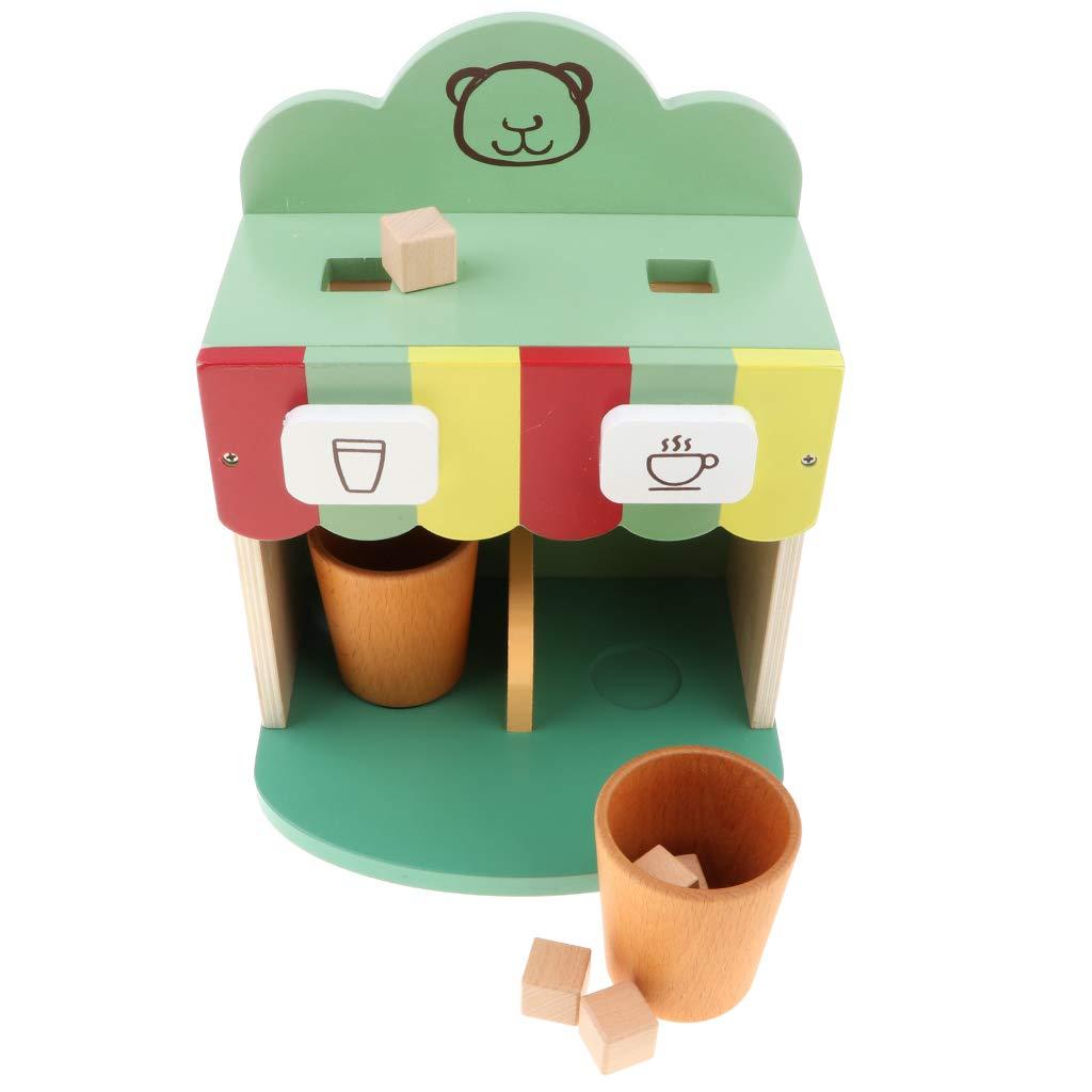 Amazon.es: B Blesiya 9X Juguete de Cafetera de Madera con Tazas de ...