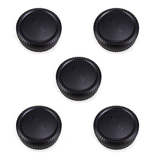 Rear Lens Cap & Body Cap JJC Rear Lens Cover Body Cover for Fuji Fujifilm X-T30 X-T20 X-T10 X-T3 X-T1 X-T2 X-PRO1 X-PRO2 X-A10 X-A5 X-A3 X-A2 X-A1 X-H1 X-E3 X-E2s X-E2 X-E1 Fit Fujifilm X Mount -5Pack
