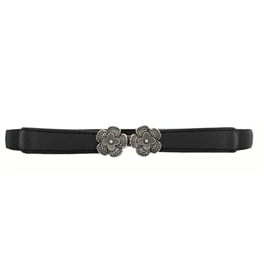 ecece5ffb3be Image Unavailable. Image not available for. Color  VOCHIC Lady Skinny Leather  Belt Elastic Waist Cincher Interlock Belt Buckle ...