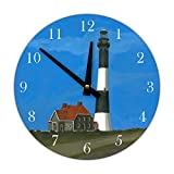 Decorative Wall Clock, Fire Island Lighthouse For Sale