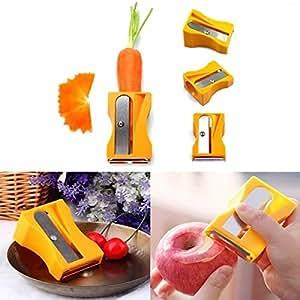 Carrot Cucumber Sharpener Peeler Kitchen Tool Vegetable Fruit Curl Slicer
