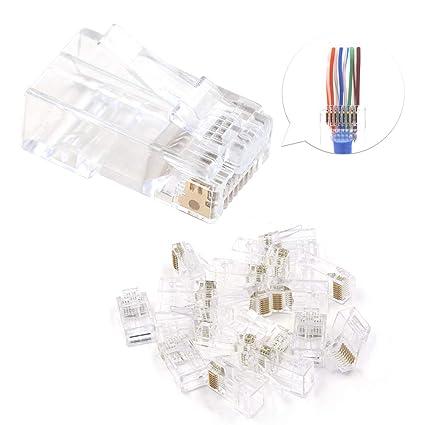 Fantastic Amazon Com Ul Listed Vce 50 Pack Rj45 8P8C Cat6 Connector End Wiring Digital Resources Dimetprontobusorg