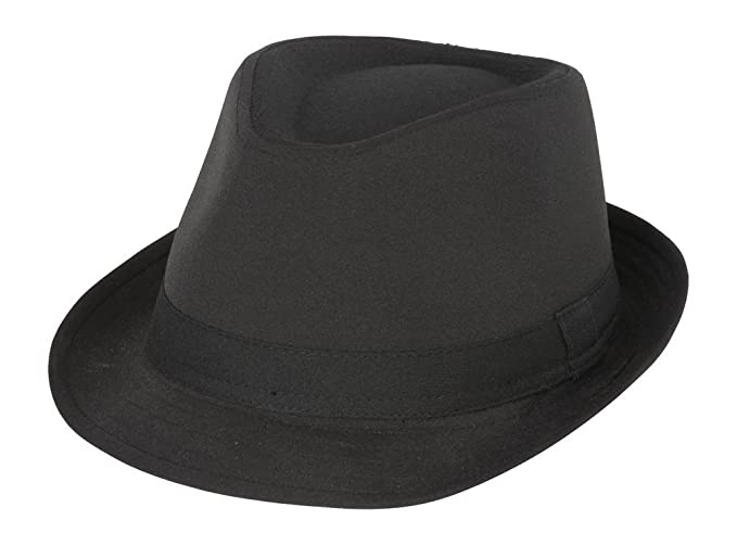 Amazon.com  TOP HEADWEAR Classic Black Fedora Hat  Clothing 8f1f0519561