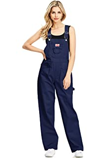 2c4786314dfd Revolt Women s Juniors Baggy Straight Leg Twill Overalls