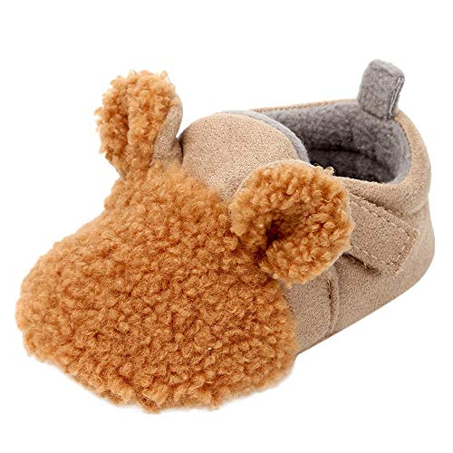 SMALLE ◕‿◕ Clearance,Newborn Baby Girls Boys Flock Ear Warm Winter First Walker Soft Sole Shoes