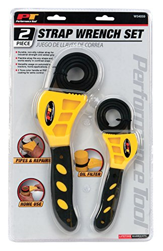 Set Rubber Grip - Performance Tool W54059 2-Piece Strap Wrench Set