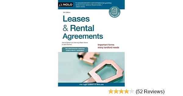 Amazon.com: Leases & Rental Agreements (9781413316193): Marcia ...