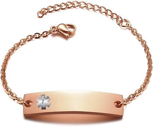 Silver Bar Medical Alert Bracelet Gold Medical Alert Bracelet Gold Bar Bracelet Medical ID Bracelet Silver Medical Alert Bracelet