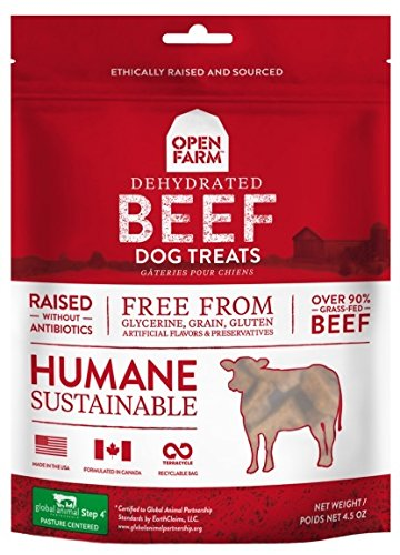 Open Farm Dehydrated Beef Dog Treats 4.5 Ounces