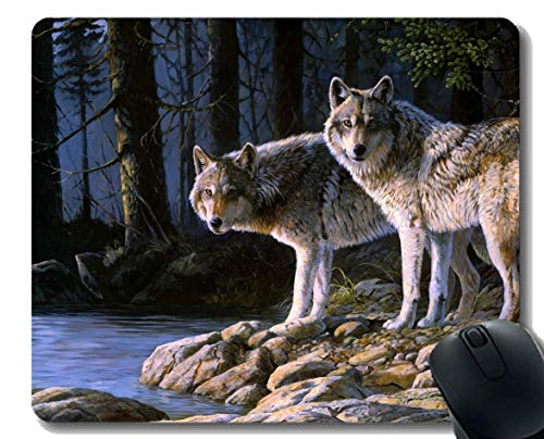 Gaming Mouse Pad Custom,Animal Wolf Home Office Computer Accessories -