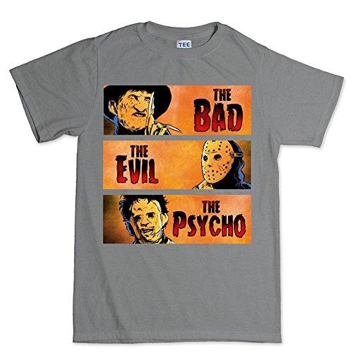 LesGo-Tshirt Bad Evil Psycho Party Costume T Shirt]()
