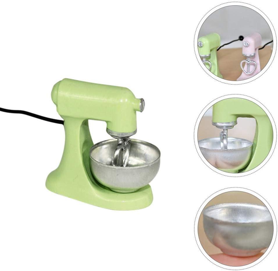NUOBESTY Kinder K/üchenmischer Spielzeug Miniatur Harz Mixer Mixer So Tun Als Spielen Mini K/üchenger/ät Puppenhaus 1:12 Szene Layout Dekoration 3 Zuf/ällige Farbe 2X3 1 cm