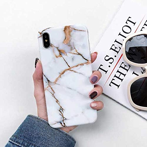 Fitted Cases - Vintage Marble Case For Iphone Xs Xr Xs Max X 8 7 6 6s Plus Soft Imd Glossy Full Body Phone Back Cover Cases Bags Gifts - For iPhone XS Max_c - Red Arm Clip Silver Handbag